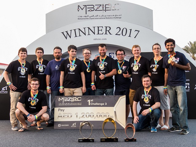Victory of robotic team at MBZIRC