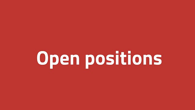 Open positions at department