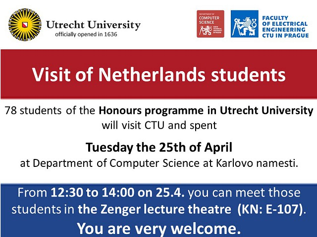 Visit of Honours programme students from Utrecht