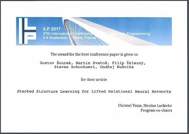 The best paper award 2017