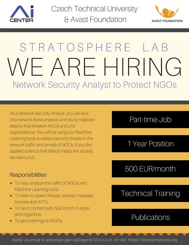 Stratosphere IPS Is Hiring Network Security Analyst