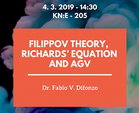 Lecture by Fabio V. Difonzo's: Filippov Theory, Richards' Equation and AGV