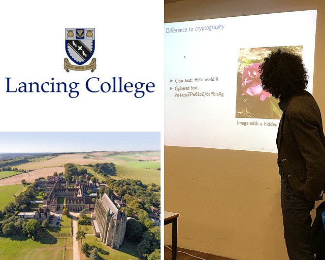Tomáš Pevný gave a lecture at Lancing College