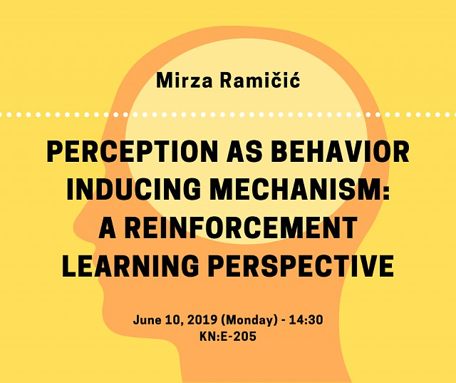 Mirza Ramičić will give a talk on reinforcement learning