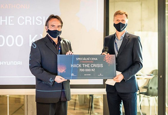FreMen contra covid awarded at Hack the crisis